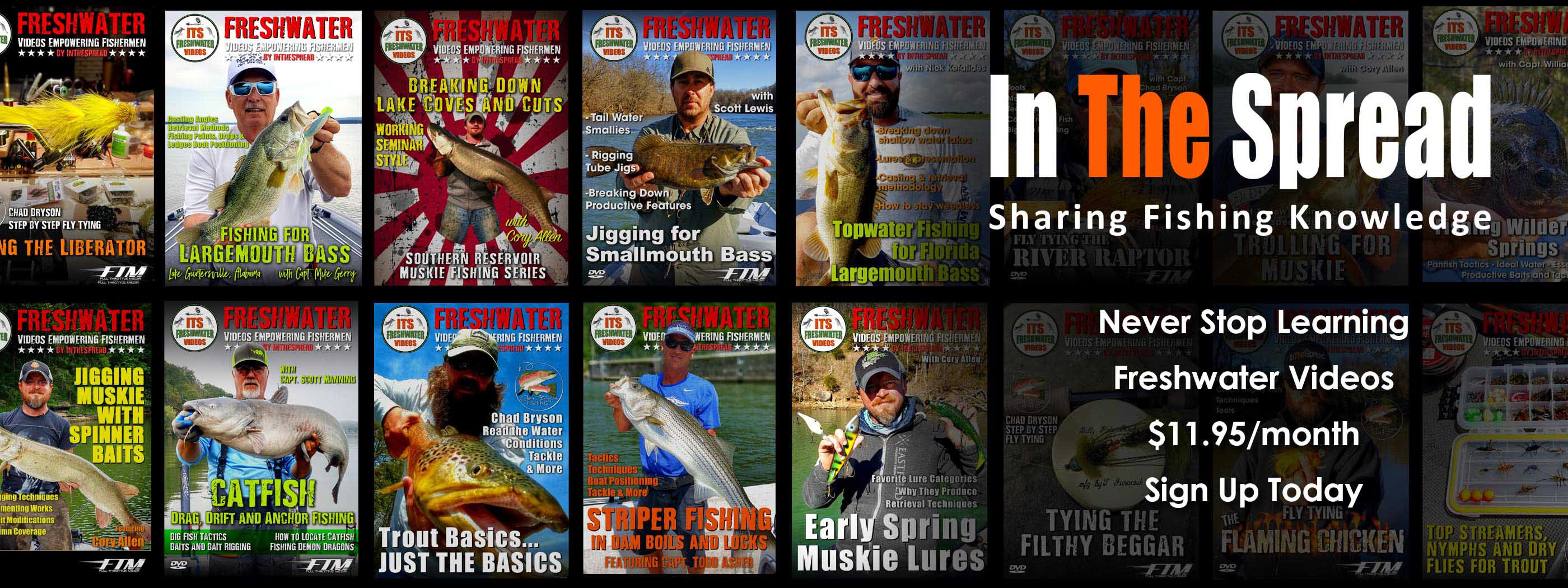 in the spread freshwater fishing videos