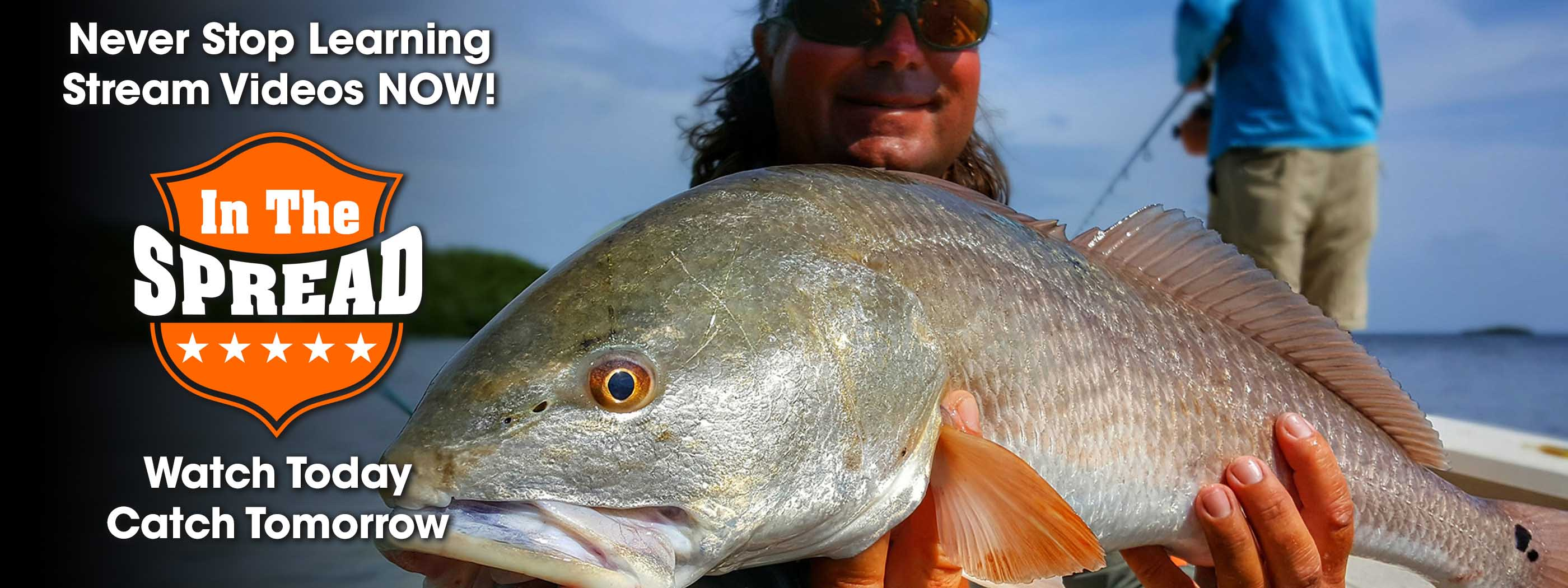 redfish fishing videos in the spread