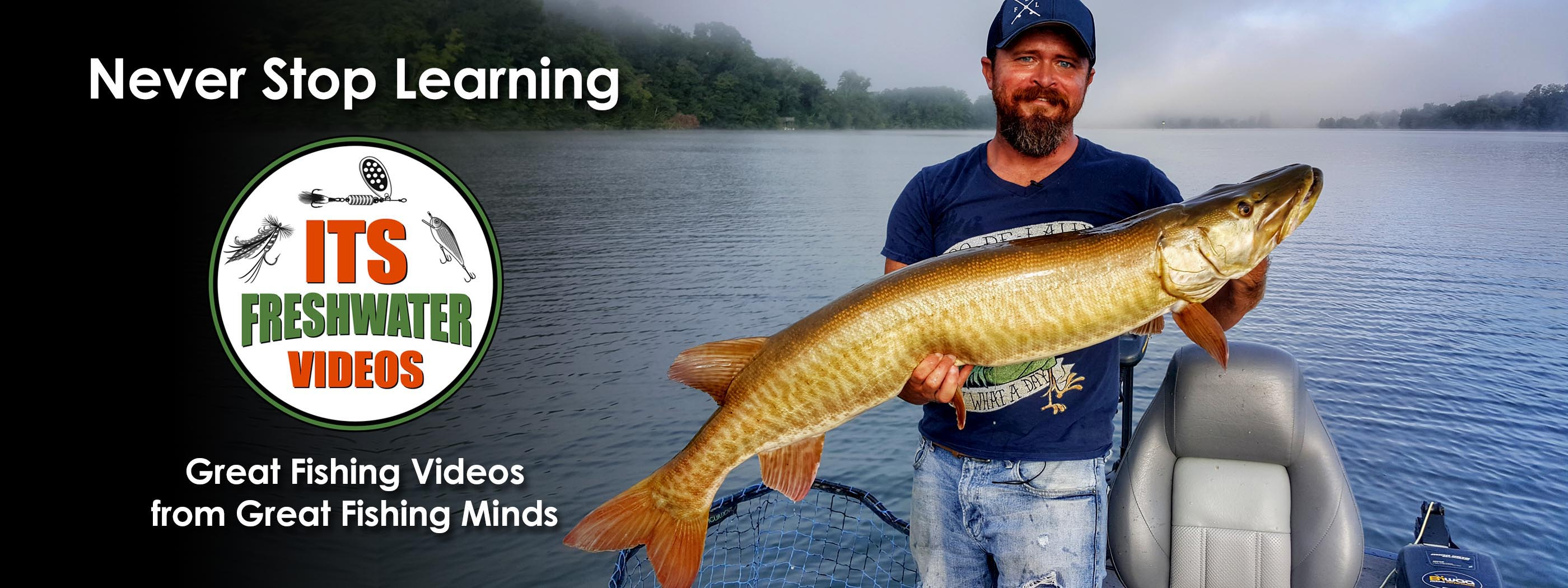 in the spread muskie fishing video