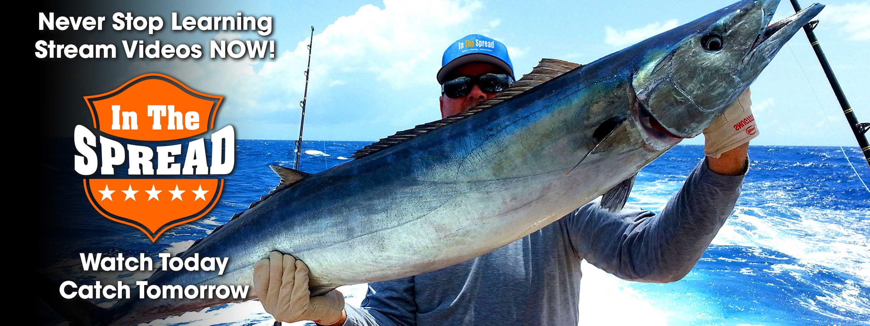 in the spread wahoo fishing video offshore