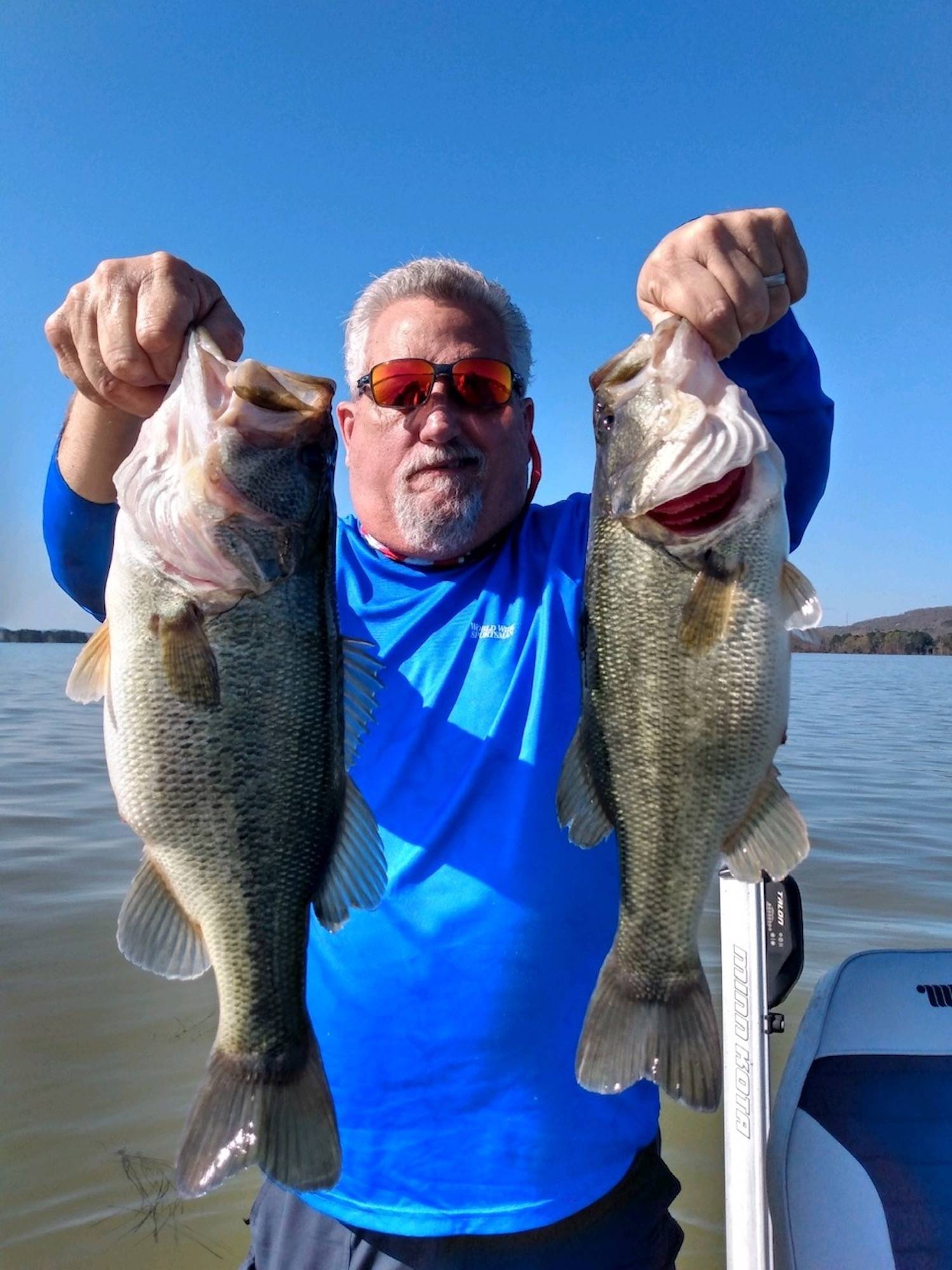 bass movements lake guntersville in the spread fishing mike gerry
