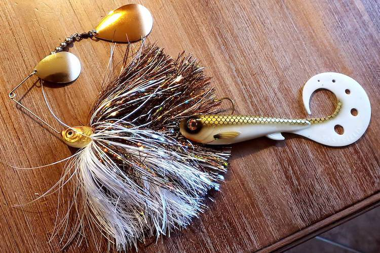 safety pin style lures musky fishing cory allen in the spread