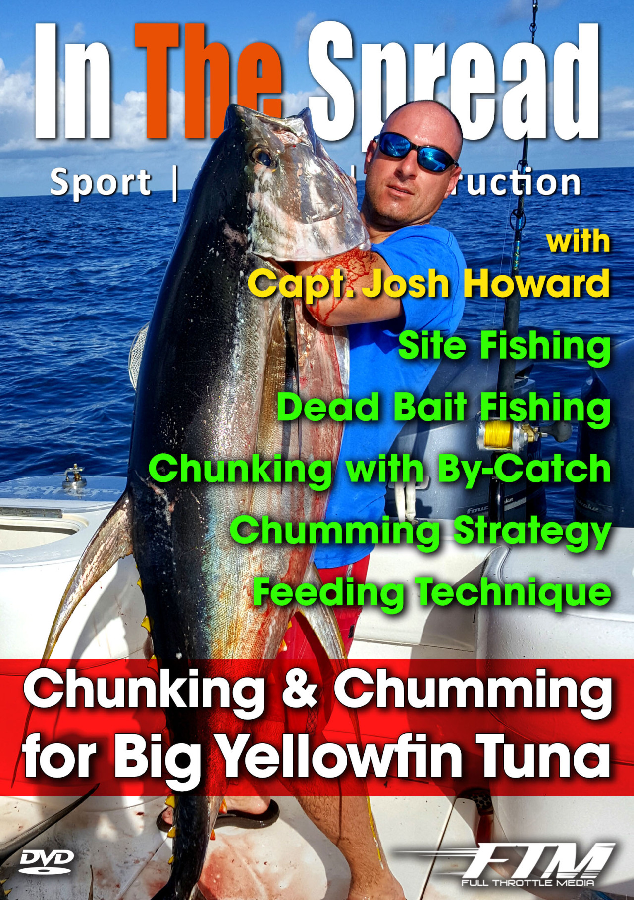 chumming chunking yellowfin tuna in the spread fishing video josh howard venice louisiana