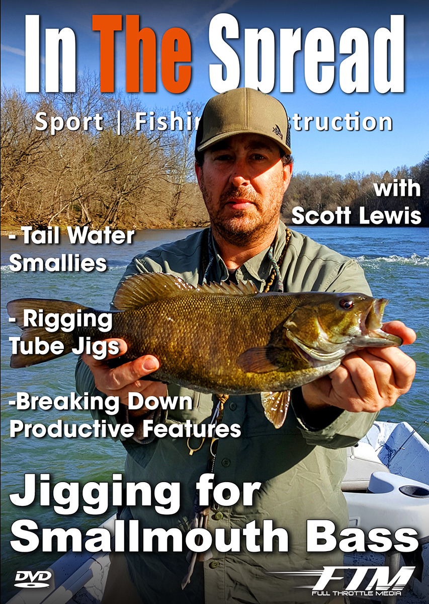 jigging smallmouth bass in the spread fishing video