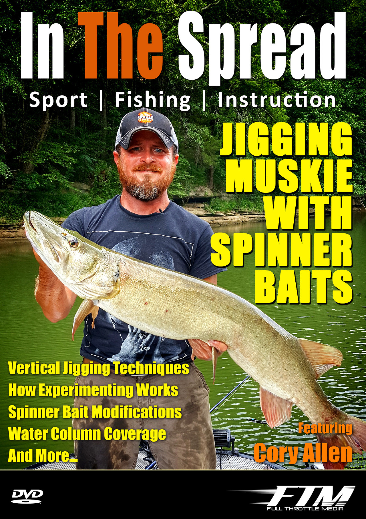 muskie fishing jigging spinner baits in the spread cory allen video