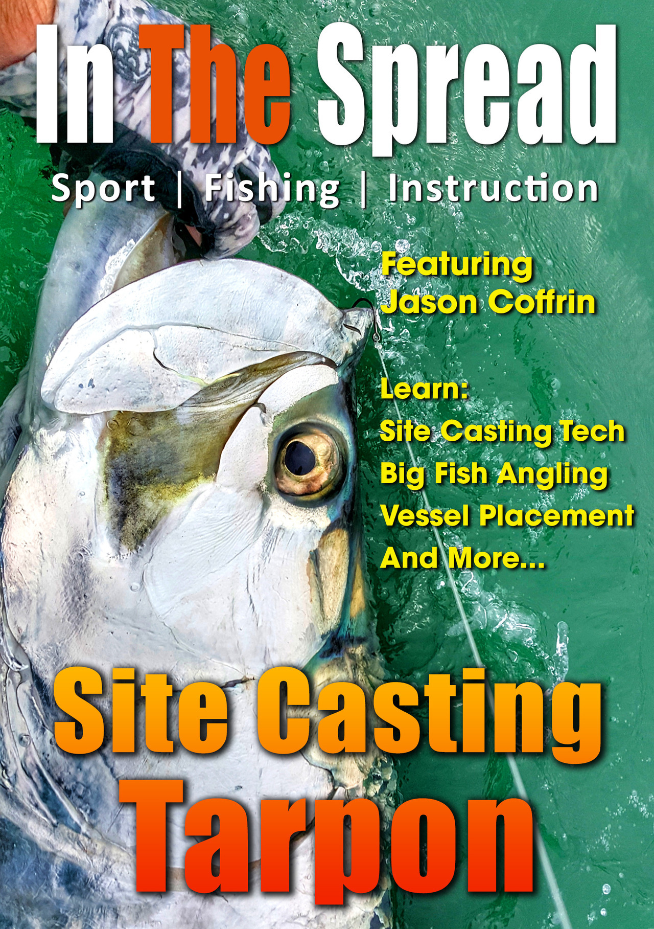 site  casting tarpon in the spread fishing video florida