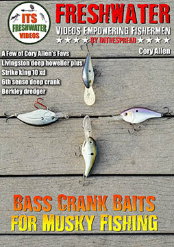 bass crank baits musky fishing in the spread cory allen
