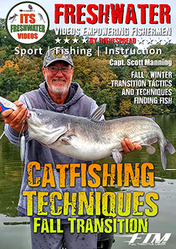 catfishing blue catfish fall transition in the spread video scott manning