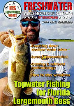 topwater largemouth bass fishing in the spread video nick kefalides
