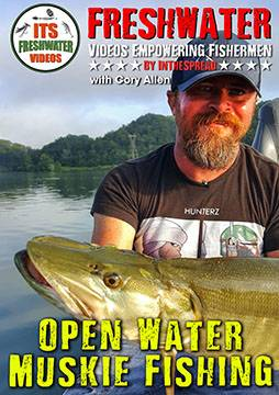 open water muskie fishing in the spread video cory allen musky