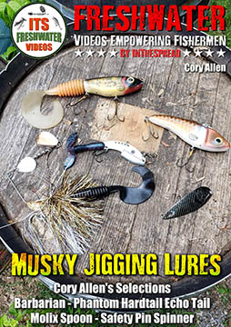 musky jigging lures in the spread fishing cory allen