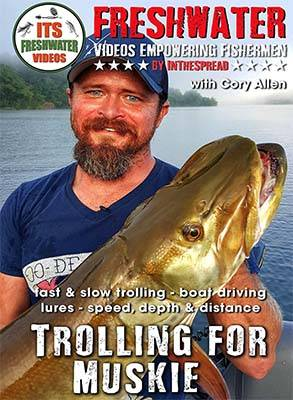 trolling muskie in the spread fishing video cory allen musky lures