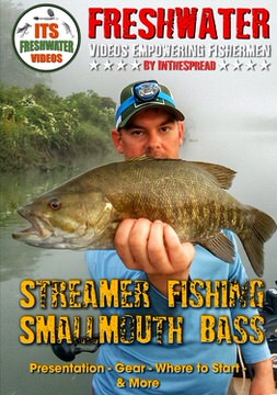 streamer fishing smallmouth bass fly in the spread video