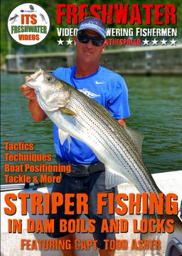 freshwater striped bass in the spread fishing video stripers