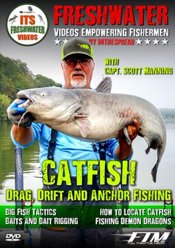 catfish in the spread fishing video drag drift anchor scott manning