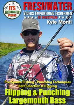 flipping punching largemouth bass in the spread fishing kyle monti video