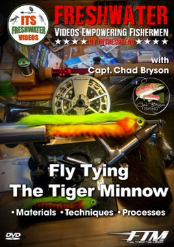 tying trout streamer flies in the spread fishing video chad bryson tiger minnow fly
