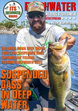 largemouth bass fishing in the spread nick kefalides deep water suspended bass