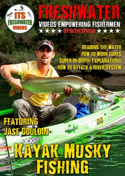 musky kayak fishing in the spread video muskie lures