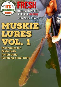 muskie lures in the spread fishing video cory allen
