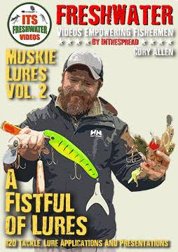 musky lures cory allen in the spread fishing video h2o tackle