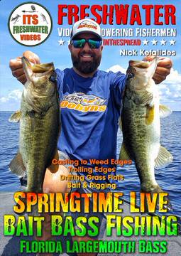 bass fishing tips springtime live bait in the spread videos nick kefalides