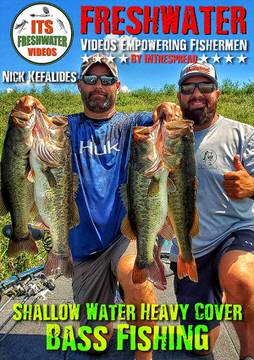 summer bass fishing shallow water heavy cover in the spread nick kefalides videos