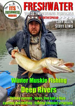 winter muskie fishing tennessee cory allen in the spread video