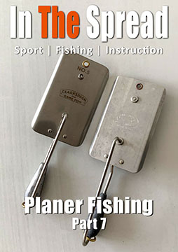 how to planer fish with sea witches in the spread fishing video