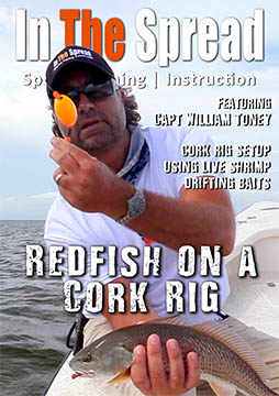 popping cork redfish fishing william toney video in the spread