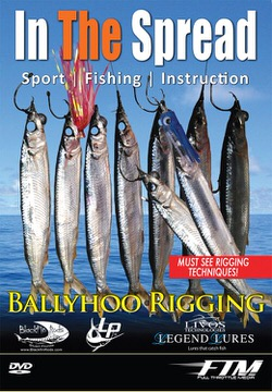 rigging ballyhoo in the spread fishing video