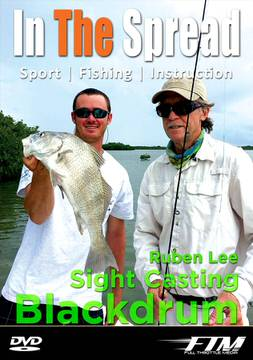 sight casting black drum in the spread fishing video