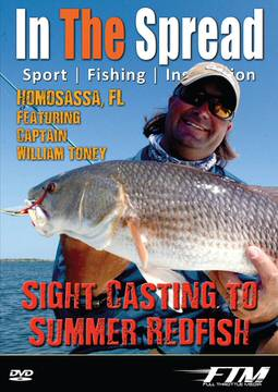 sight casting redfish in the spread fishing video william toney homosassa florida