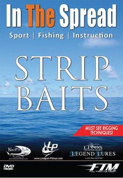 rigging strip baits in the spread fishing video