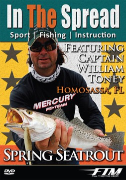 spring speckled sea trout in the spread video william toney homosassa florida