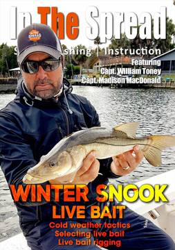 winter snook fishing live bait in the spread william toney