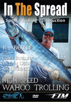 high speed wahoo trolling in the spread fishing video