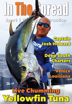 live bait chumming yellowfin tuna in the spread fishing video venice la